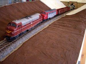 Überführungsfahrt der beiden NOHAB Lokomotiven