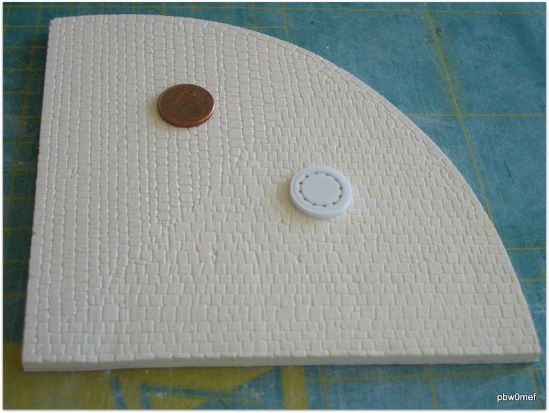 Kopfsteinpflaster Kurvenplatte