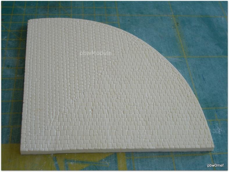 Kopfsteinpflasterplatte Bogenmodul