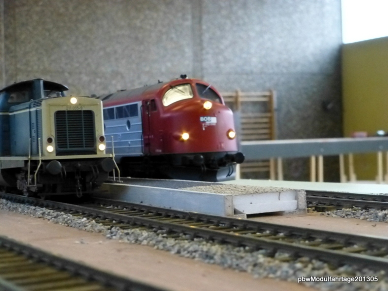 Abb: Zugüberholung in Blumfeld