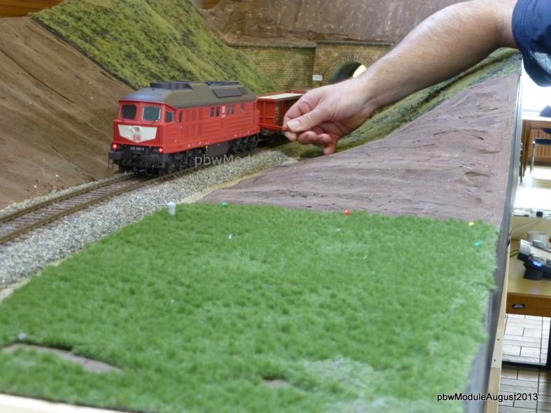 Abb: BR 232 wird vor den Zuckerrübenzug gekuppelt