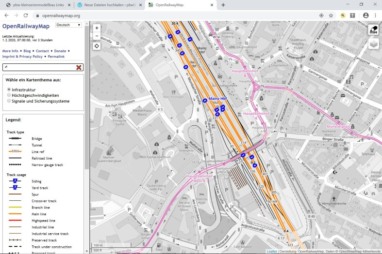 Screenshot openrailwaymap